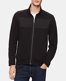 Calvin Klein Men's Colorblocked Zip-Front Sweater