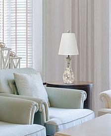 Elegant Designs Mod Art Polished Chrome Table Lamp with Black Shade