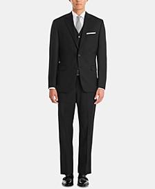 Men's UltraFlex Classic-Fit Black Wool Suit Separates