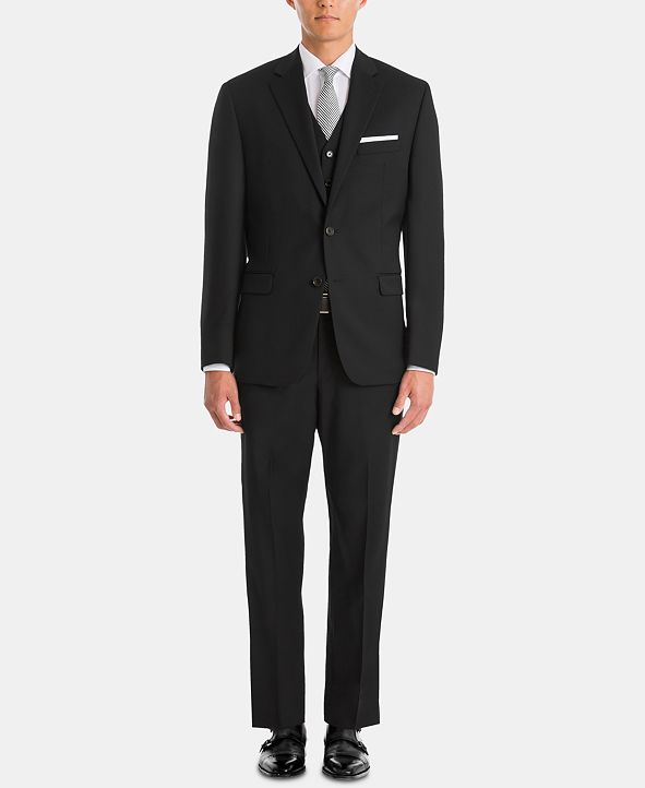 Lauren Ralph Lauren  Men's UltraFlex Classic-Fit Black Wool Suit Separates