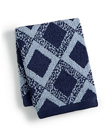 "Hotel Collection Tile Diamond Cotton 13"" x 13"" Wash Towel, Created for Macy's"