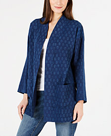 Eileen Fisher Organic Cotton Kimono Coat, Regular & Petite