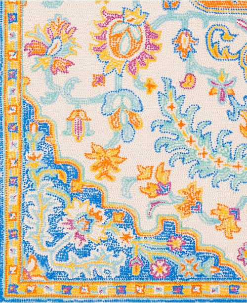 "Surya Antigua AGA-1014 Bright Blue 18"" Square Swatch"