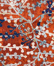 """Surya Ararat ARA-2308 Bright Orange 18"""" Square Swatch"""