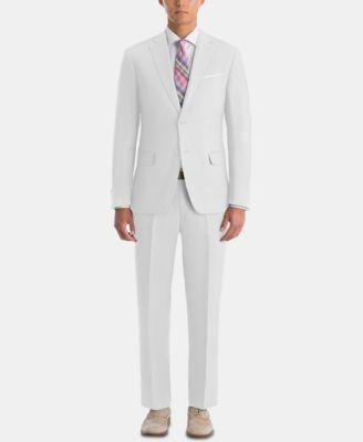 Men's UltraFlex Classic-Fit White Linen Sport Coat