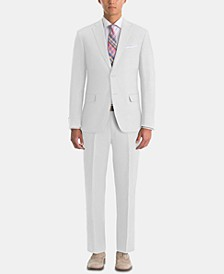 Men's UltraFlex Classic-Fit White Linen Suit Separates