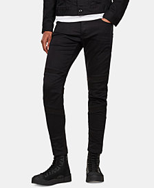 G-Star RAW Men's Motac Stretch Moto Jeans, Created for Macy's