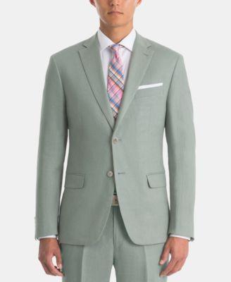 Men's UltraFlex Classic-Fit Sage Linen Sport Coat