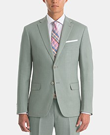 Men's UltraFlex Classic-Fit Sage Linen Sport Coat