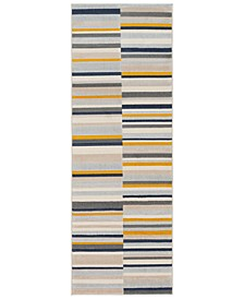 "City CIT-2325 Mustard 2'7"" x 7'3"" Runner Area Rug"
