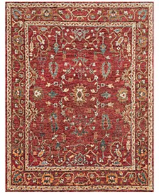 "Empress Jute EU-05 Red/Red 7'9"" x 9'9"" Area Rug"