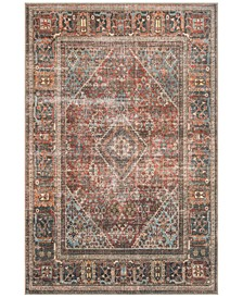 "Loren LQ-13 Brick/Midnight 7'6"" x 9'6"" Area Rug"