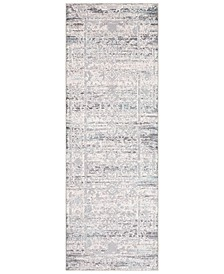 "Genesis GNS-2300 Silver Gray 2'7"" x 7'6"" Runner Area Rug"