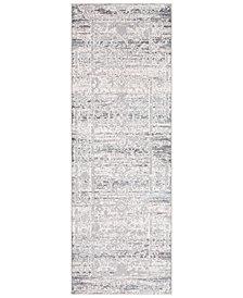 """Surya Genesis GNS-2300 Silver Gray 2'7"""" x 7'6"""" Runner Area Rug"""