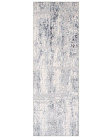 "Genesis GNS-2305 Silver Gray 2'7"" x 7'6"" Runner Area Rug"