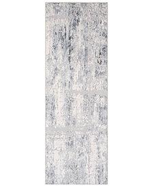 """Surya Genesis GNS-2305 Silver Gray 2'7"""" x 7'6"""" Runner Area Rug"""