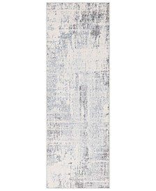 "Genesis GNS-2306 Silver Gray 2'7"" x 7'6"" Runner Area Rug"