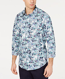 Tasso Elba Men's Baroque Paisley Shirt, Created for Macy's