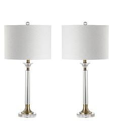 JONATHAN Y Mark Crystal or Metal Led Table Lamp