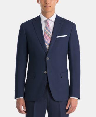 Men's UltraFlex Classic-Fit Navy Linen Sport Coat