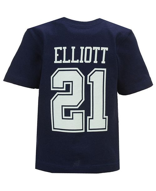 ba595d7fb ... Authentic NFL Apparel Ezekiel Elliott Dallas Cowboys Eligible Player  Name   Number T-Shirt