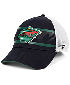 Authentic NHL Headwear Minnesota Wild 2nd Season Trucker Adjustable Snapback Cap
