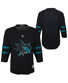 Authentic NHL Apparel San Jose Sharks Alternate Blank Replica Jersey, Big Boys (8-20)