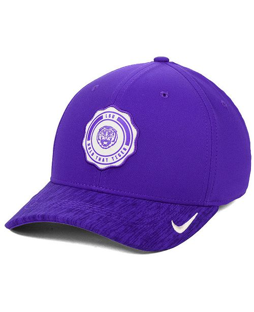 pretty nice d3a64 ebaf6 ... Nike LSU Tigers Rivalry Swooshflex Stretch Fitted Cap ...