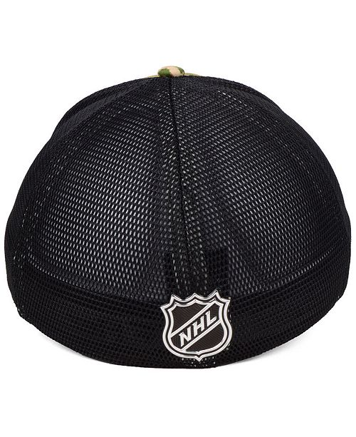 6f345ef96 Authentic NHL Headwear Carolina Hurricanes Military Appreciation Speed Flex  Stretched Fitted Cap ...
