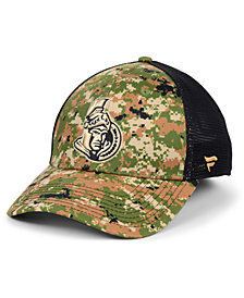 Authentic NHL Headwear Ottawa Senators Military Appreciation Speed Flex Stretch Fitted Cap