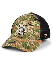 Authentic NHL Headwear Ottawa Senators Military Appreciation Speed Flex Stretch Fitted Cap