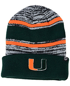 Zephyr Miami Hurricanes Slush Cuff Knit Hat