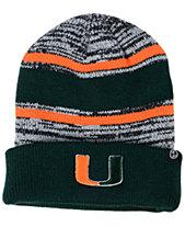Zephyr Miami Hurricanes Slush Cuff Knit Hat fe32723669a3