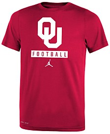 Jordan Oklahoma Sooners Logo Sport Drop T-Shirt, Big Boys (8-20)