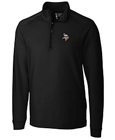 Cutter & Buck Men's Minnesota Vikings Jackson Half-Zip Pullover