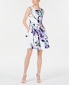 Taylor Sleeveless Floral Scuba Dress
