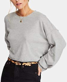 Free People Cotton Denver Long-Sleeve Top