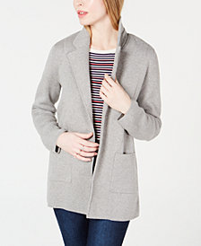 Maison Jules Open-Front Sweater Blazer, Created for Macy's