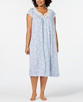 913b1ca1bae Charter Club Plus-Size Flutter Sleeve Printed Soft Knit Nightgown