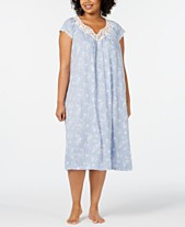 Charter Club Plus-Size Flutter Sleeve Printed Soft Knit Nightgown 1c6f91fbb