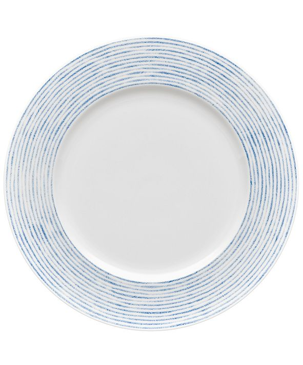 Noritake Hammock Rim  Dinner Plate - Stripes, Created for Macy's