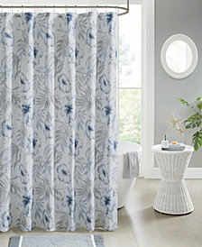 """Madison Park Milo 72"""" x 72"""" Cotton Shower Curtain"""