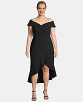 9e5d43957 XSCAPE Plus Size Ruffled Off-The-Shoulder Dress