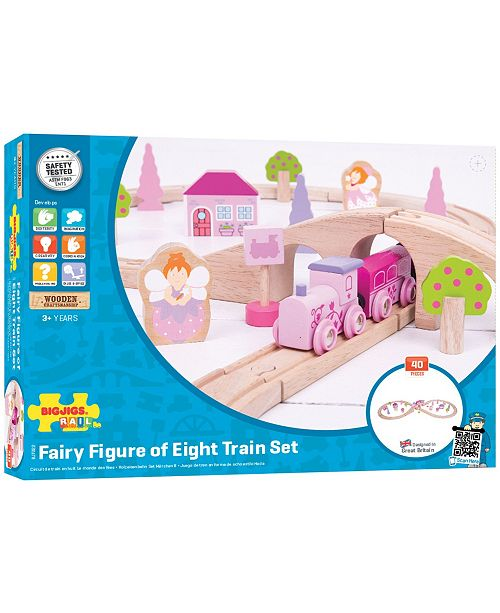 Bigjigs Rail Wooden Fairy Figure of Eight Train Set