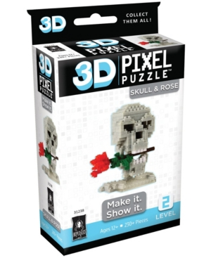 3D Pixel Puzzle - Skull and Rose- 230 Piece