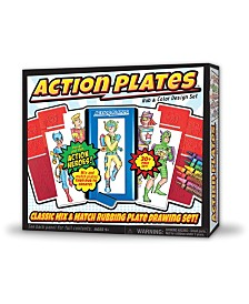 Action Plates Rub and Color Design Set