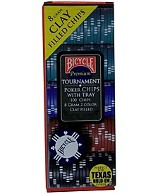 Bicycle Clay Poker Chip Set- 100 Count