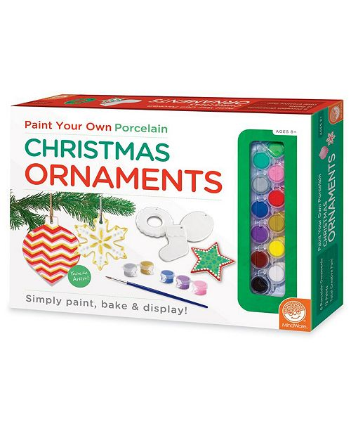 MindWare Paint Your Own Christmas Ornaments - Craft Kit