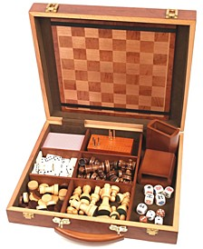 6 in 1 Attache Game Compendium - Six Games in One Case