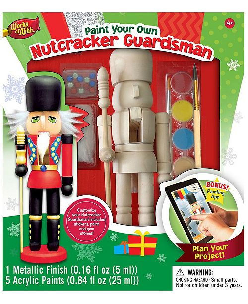 Masterpieces Puzzles Works of Ahhh... Wood Painting Kit - Nutcracker Guardsman